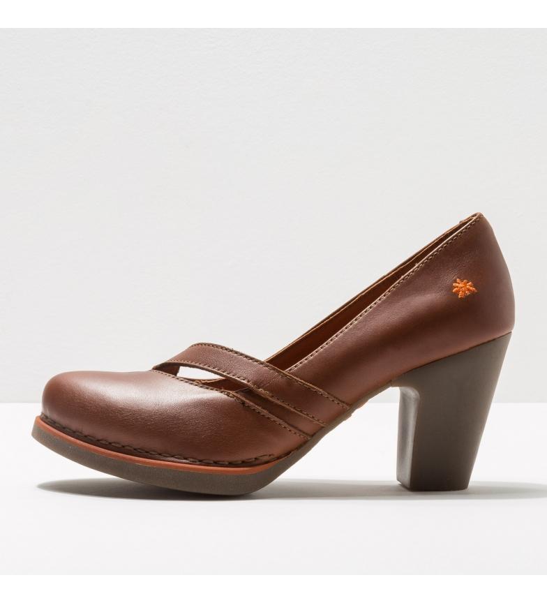 Comprar Art 1155 Gran Via scarpe in pelle marrone -Altezza tacco: 8cm-