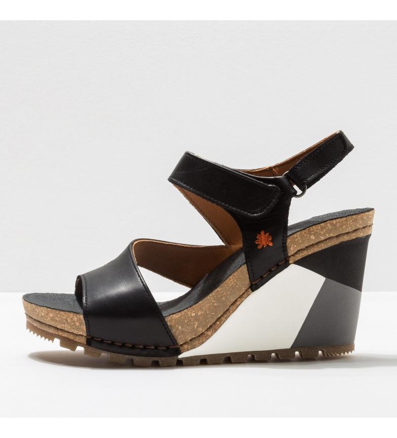 Comprar Art Sandálias de couro 1330 Güell preto -Altura da cunha: 8 cm