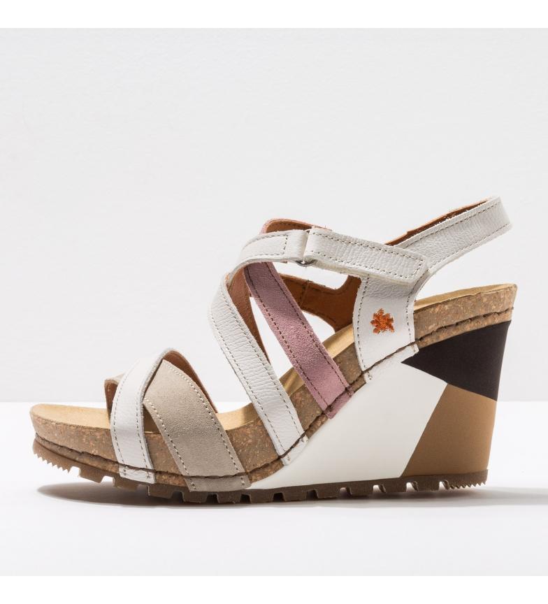 Comprar Art Leather sandals 1337 Güell white, beige -Wedge height: 8 cm-.