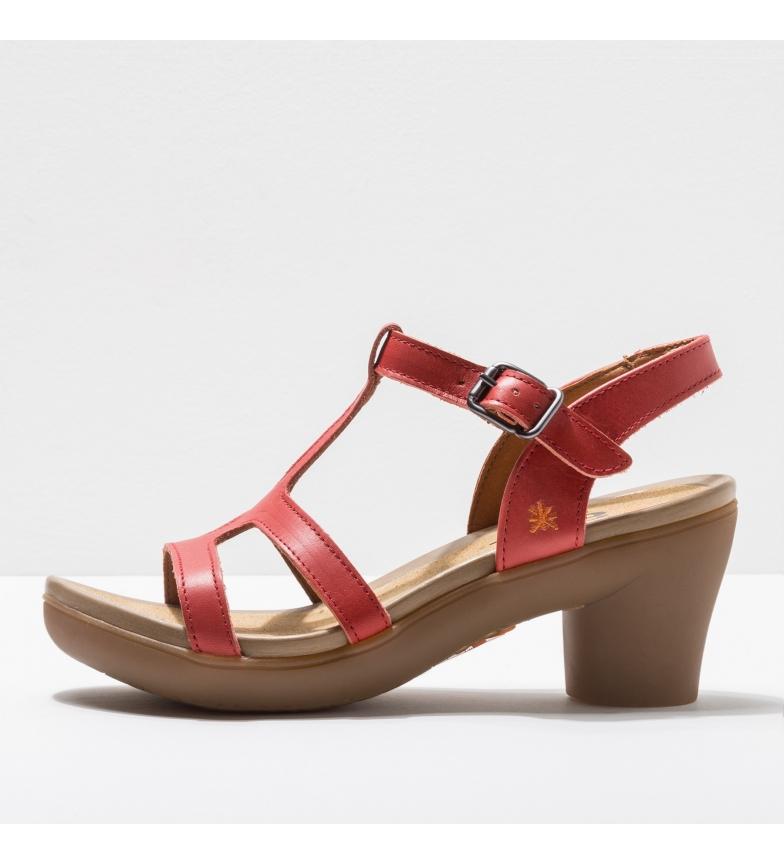 Comprar Art Leather sandals 1473 Alfama coral -Heel height: 7 cm- -Height of the heel: 7 cm- -Leather sandals 1473 Alfama coral -Heel height: 7 cm-