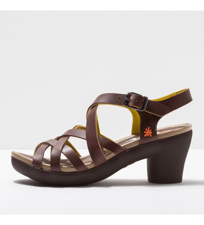 Comprar Art Sandali in pelle 1477 Alfama marrone -Altezza tacco: 7 cm-