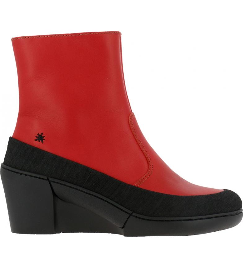 Comprar Art Botas de couro para tornozelo 1568 Grama vermelha - Altura da cunha: 6,5cm