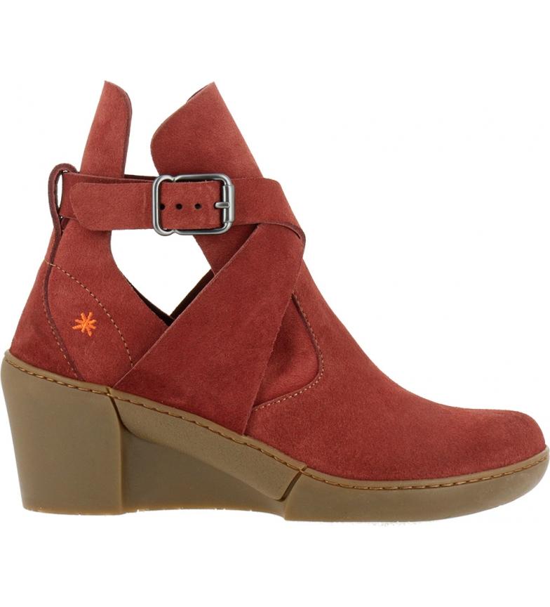 Comprar Art Botas de couro para tornozelo Rotterdam 1569 vermelho -Cunha de altura: 6,5 cm