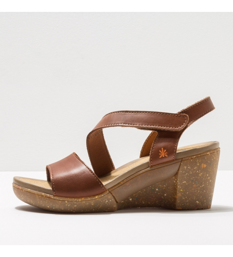 Comprar Art Leather sandals 1675 Rotterdam brown -Height of the wedge: 6,5 cm-.