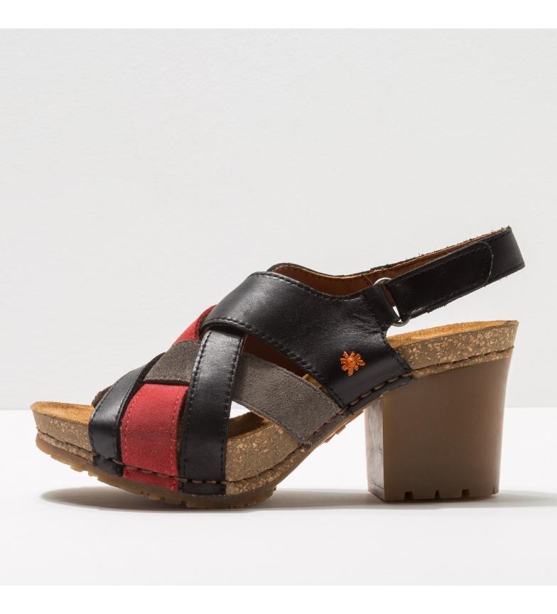 Comprar Art Sandálias de couro 1695 Soho preto, vermelho - Altura do calcanhar: 7 cm - Preto