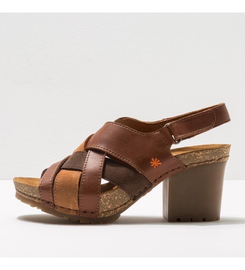 Comprar Art Sandálias de couro 1695 Soho castanho - Altura do calcanhar: 7 cm - Feito em couro castanho - Preto