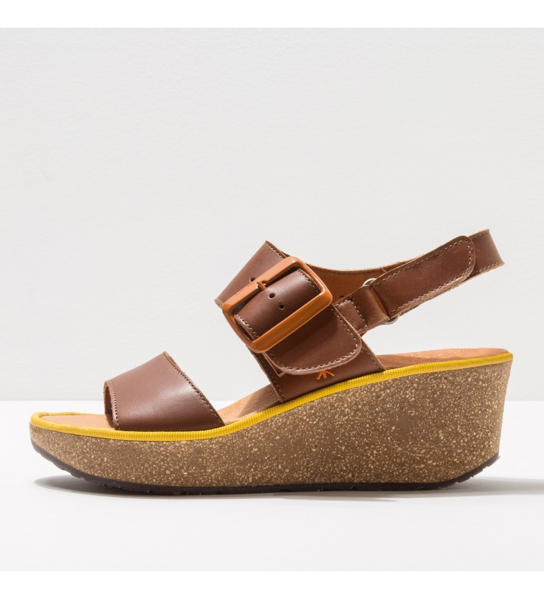 Comprar Art 1860 Parma brown leather sandals -Height of the wedge: 6,5 cm-.