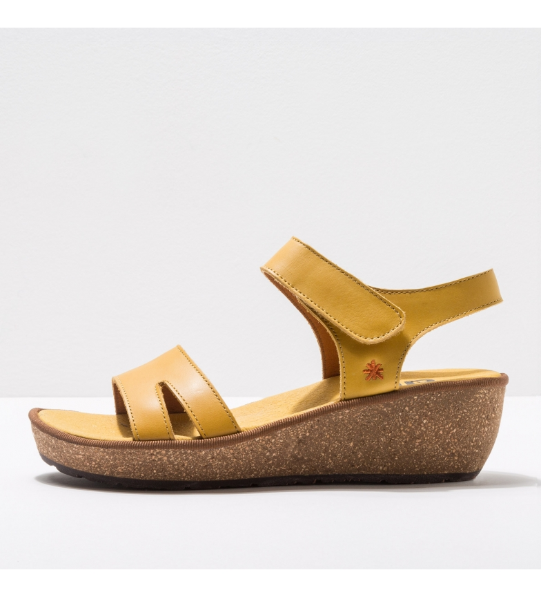 Comprar Art 1871 Sandálias de couro amarelo Capri -Altura da cunha: 5cm- - Sandálias de couro amarelo Capri 1871 -Altura da cunha: 5cm- - Sandálias de couro amarelo Capri 1871