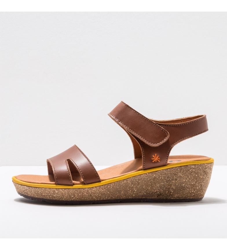 Comprar Art Leather sandals 1871 Capri brown -Height of the wedge: 5 cm- -Leather sandals 1871 Capri brown -Height of the wedge: 5 cm- -Leather sandals 1871 Capri brown