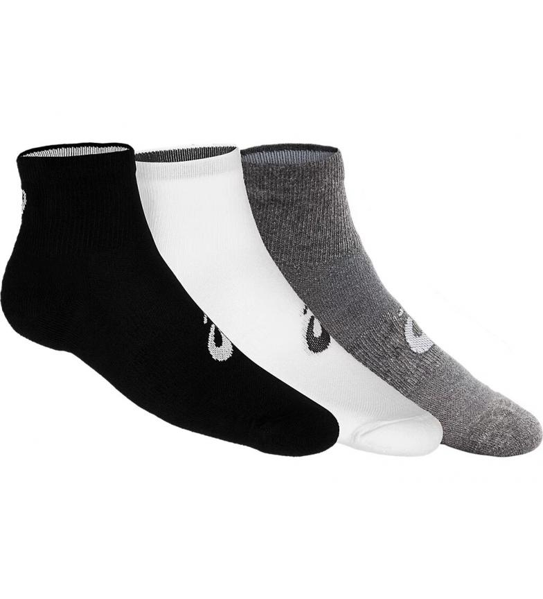 Comprar Asics 3-pack of Quarter Socks black, white, grey