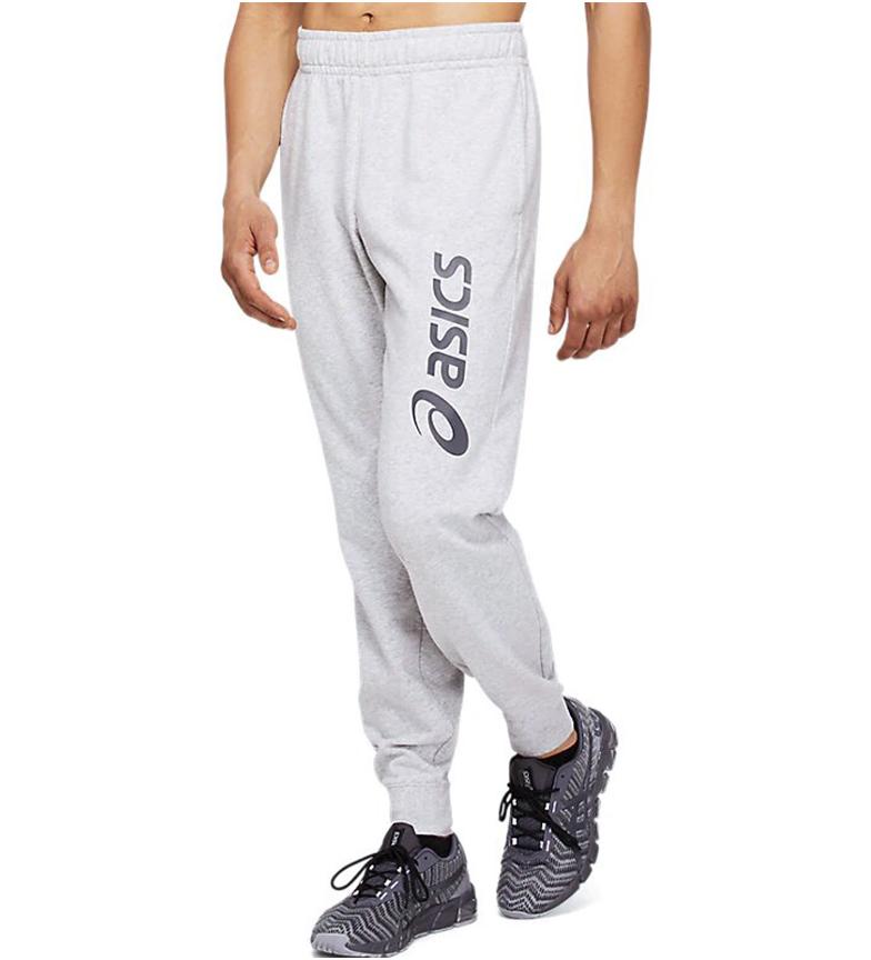 Asics Grande Logotipo Calça Suada Cinza
