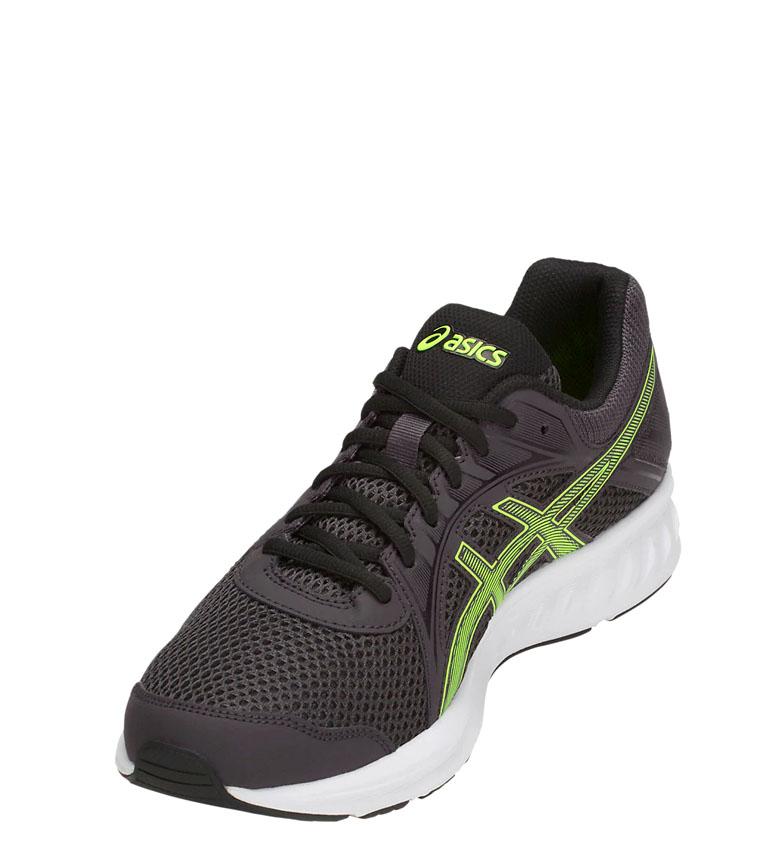 Asics-Zapatillas-de-running-Jolt-2-negro-gris-295g-Hombre-chico-Azul-Rojo miniatura 25