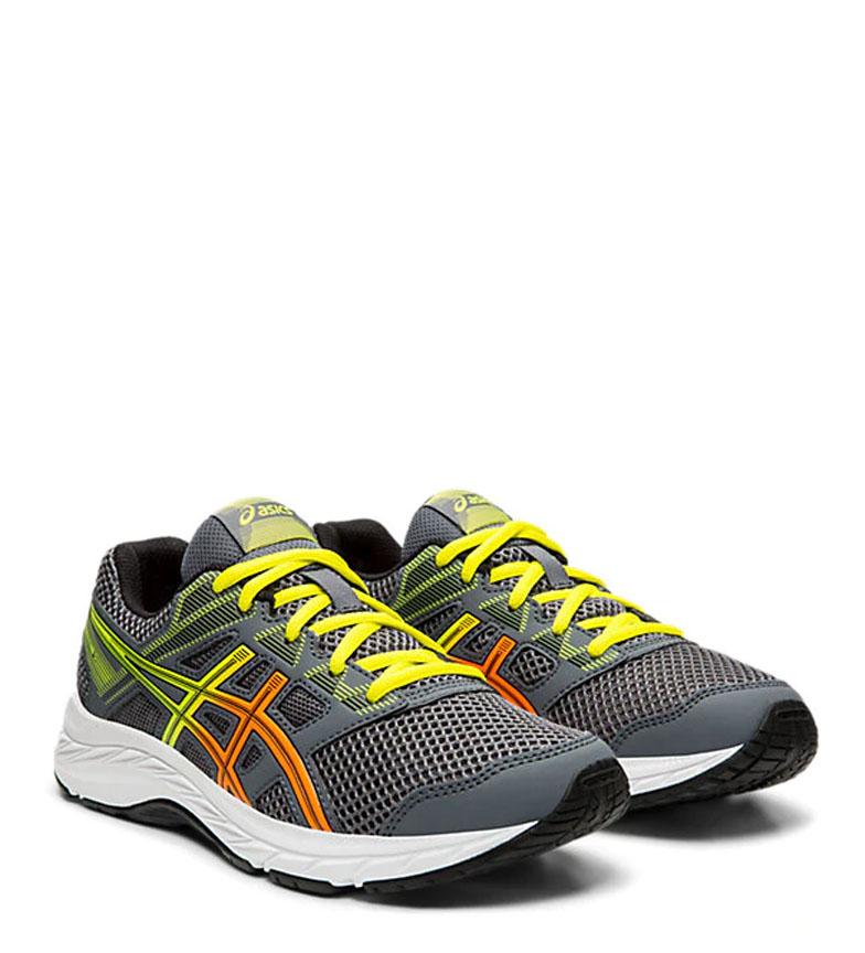 Asics-Chaussures-de-course-Gel-Contend-5-GS-noir-209g-Femme-Gris-Tissu miniature 10