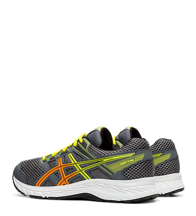 Asics-Chaussures-de-course-Gel-Contend-5-GS-noir-209g-Femme-Gris-Tissu miniature 11
