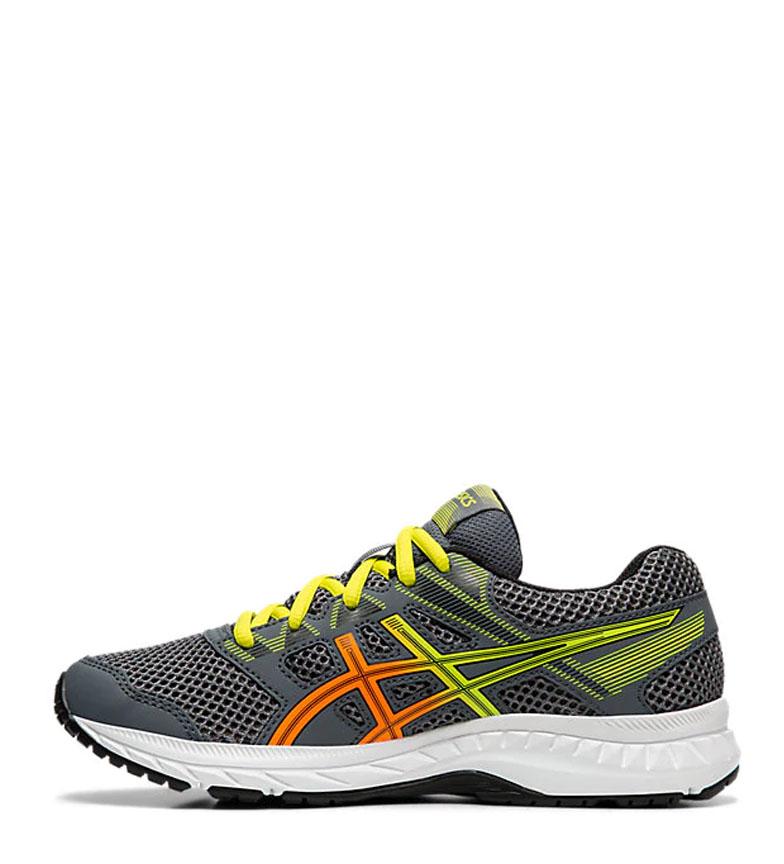 Asics-Chaussures-de-course-Gel-Contend-5-GS-noir-209g-Femme-Gris-Tissu miniature 12