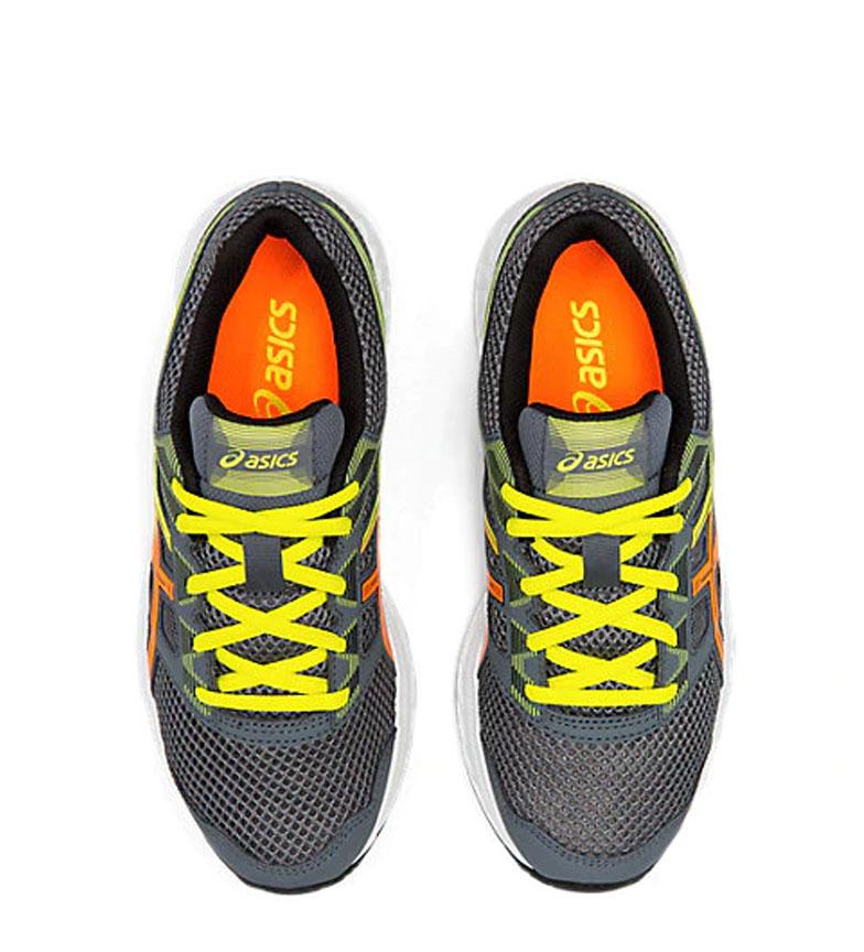 Asics-Chaussures-de-course-Gel-Contend-5-GS-noir-209g-Femme-Gris-Tissu miniature 15