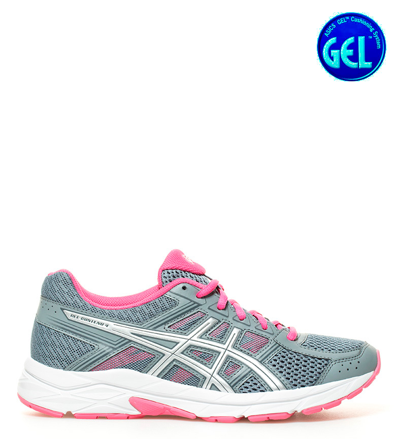 4 Asics Zapatillas Gel Zapatillas running Asics running Contend Gel gris qxEwR4xF
