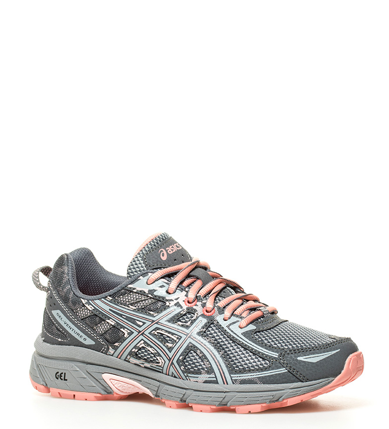 gris Asics GS Zapatillas Asics Adventure Gel running 6 Zapatillas salmón p8xTqwxP