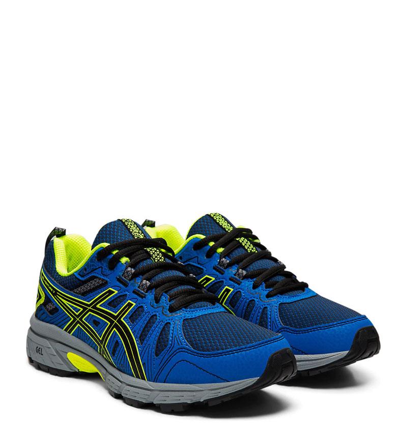 Asics-Zapatillas-de-trail-running-Gel-Venture-7-GS-gris-coral-Mujer-chica miniatura 4