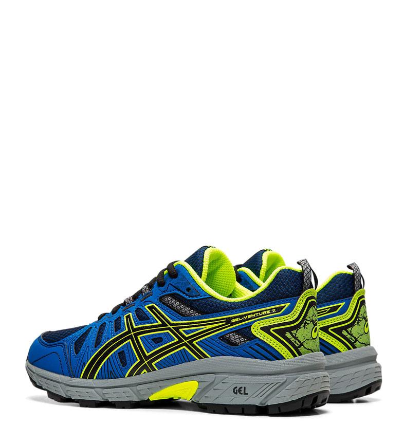 Asics-Zapatillas-de-trail-running-Gel-Venture-7-GS-gris-coral-Mujer-chica miniatura 5