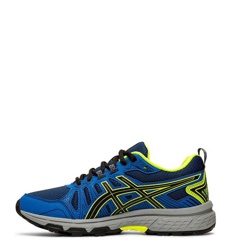 Asics-Zapatillas-de-trail-running-Gel-Venture-7-GS-gris-coral-Mujer-chica miniatura 6