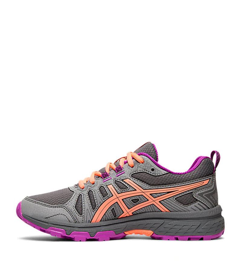 Asics-Zapatillas-de-trail-running-Gel-Venture-7-GS-gris-coral-Mujer-chica miniatura 14