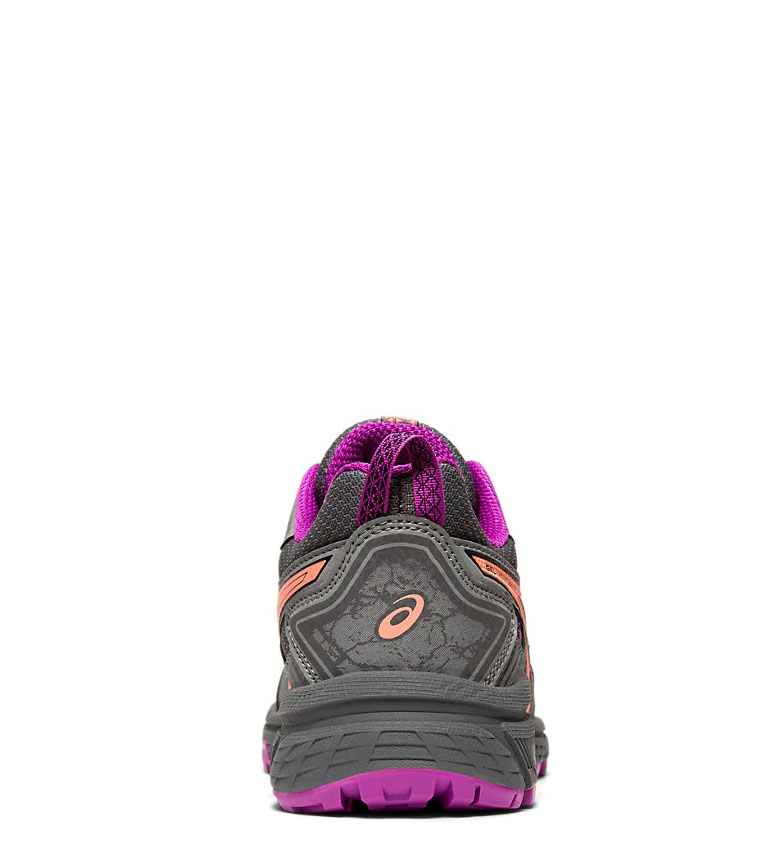 Asics-Zapatillas-de-trail-running-Gel-Venture-7-GS-gris-coral-Mujer-chica miniatura 15
