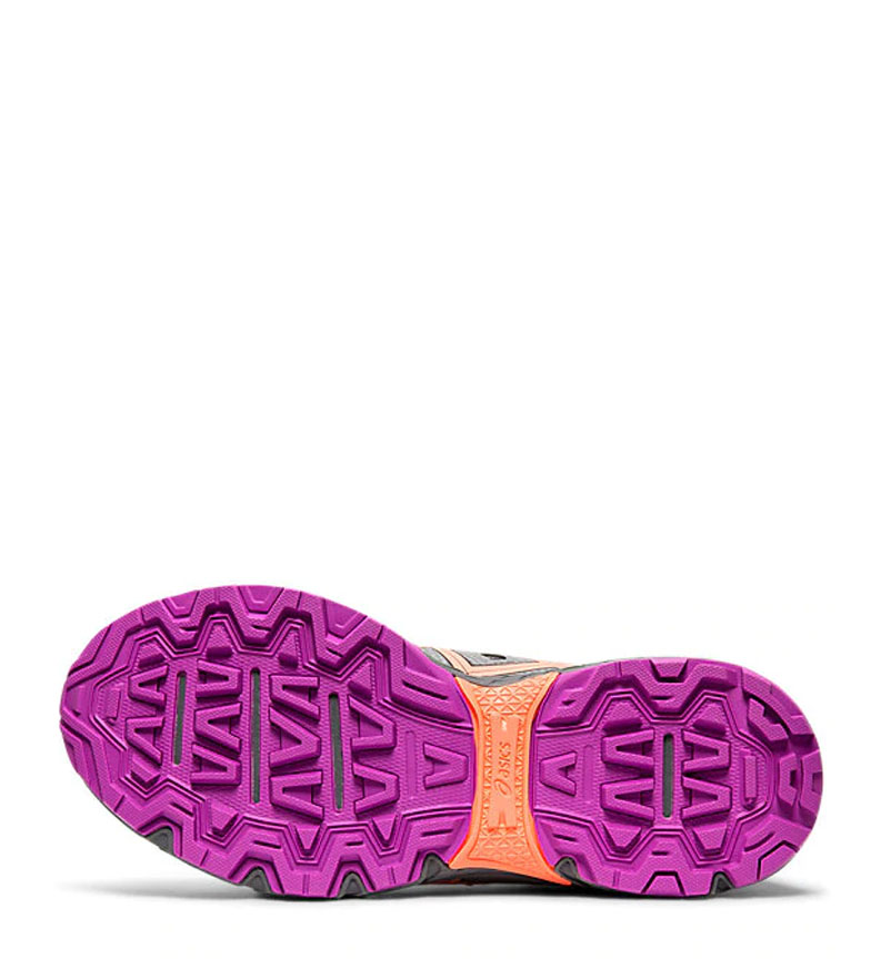Asics-Zapatillas-de-trail-running-Gel-Venture-7-GS-gris-coral-Mujer-chica miniatura 16