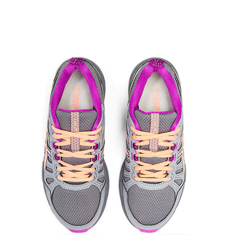Asics-Zapatillas-de-trail-running-Gel-Venture-7-GS-gris-coral-Mujer-chica miniatura 17