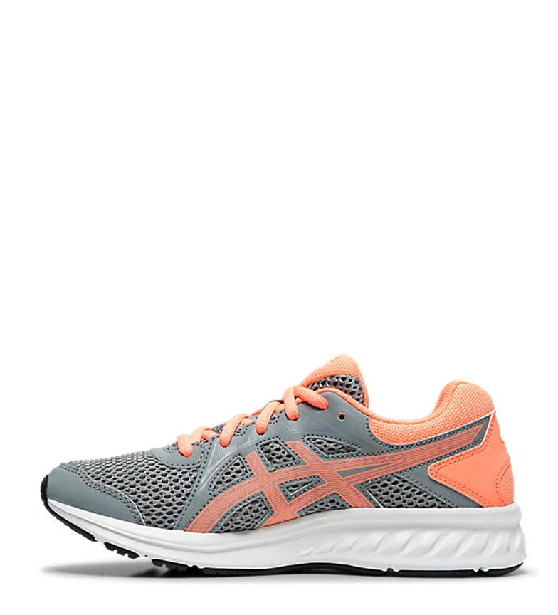 Asics-Zapatillas-de-running-Jolt-2-GS-azul-naranja-295g-Mujer-chica-Tela miniatura 6