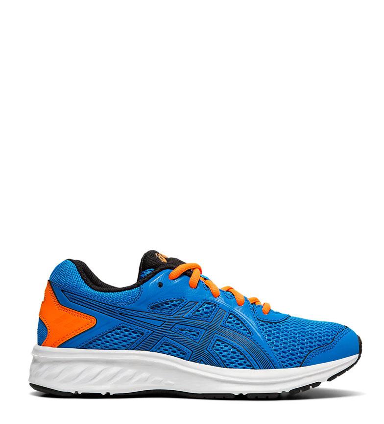 Asics-Zapatillas-de-running-Jolt-2-GS-azul-naranja-295g-Mujer-chica-Tela miniatura 11