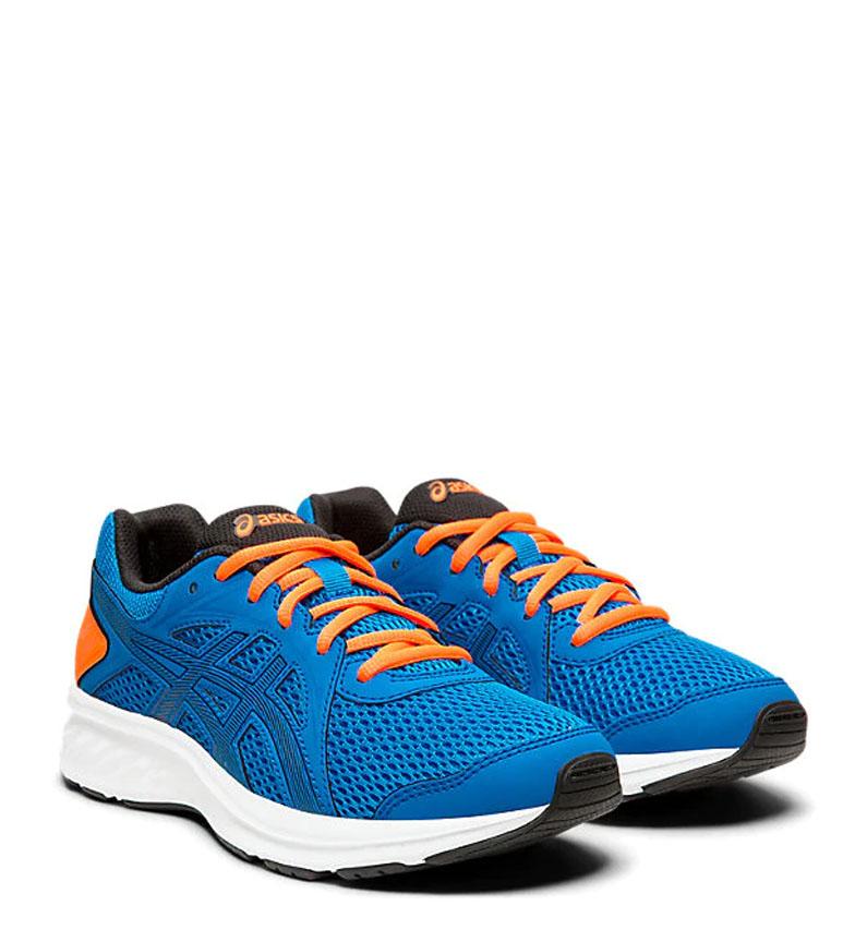 Asics-Zapatillas-de-running-Jolt-2-GS-azul-naranja-295g-Mujer-chica-Tela miniatura 12