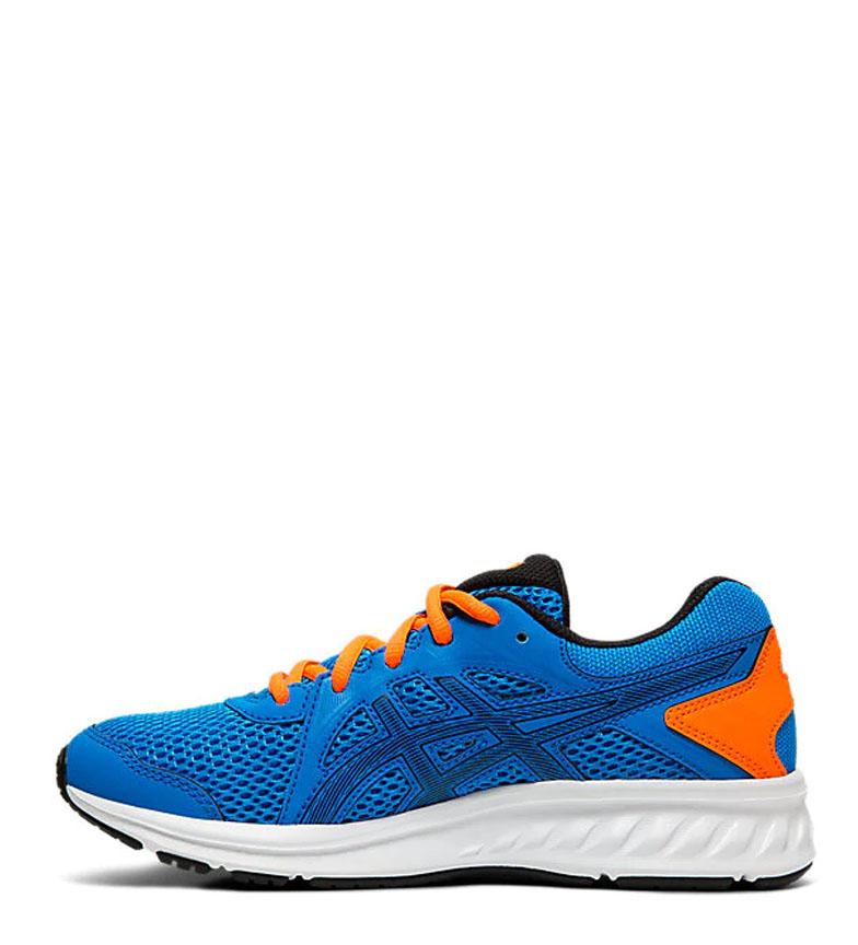 Asics-Zapatillas-de-running-Jolt-2-GS-azul-naranja-295g-Mujer-chica-Tela miniatura 14