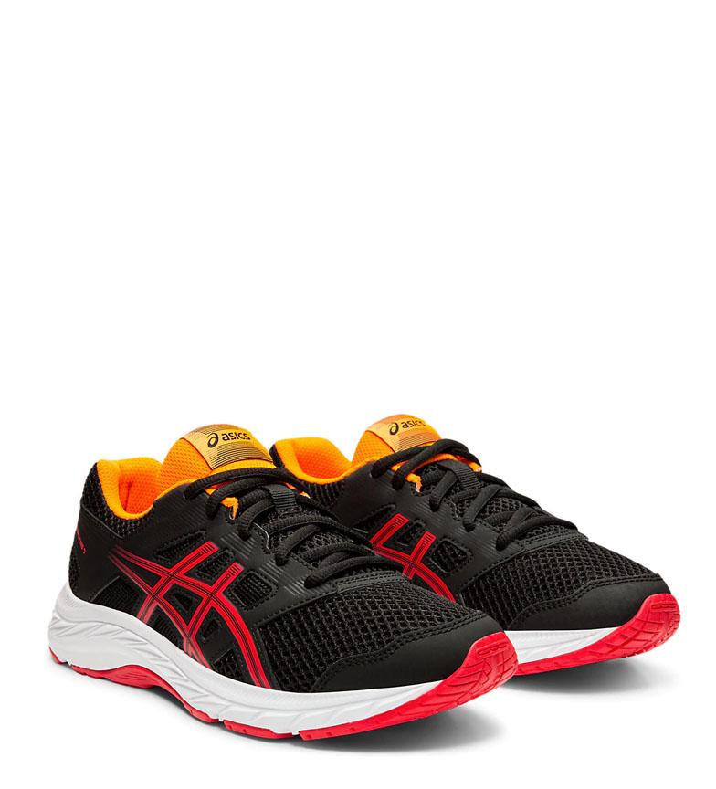 Asics-Chaussures-de-course-Gel-Contend-5-GS-noir-209g-Femme-Gris-Tissu miniature 3
