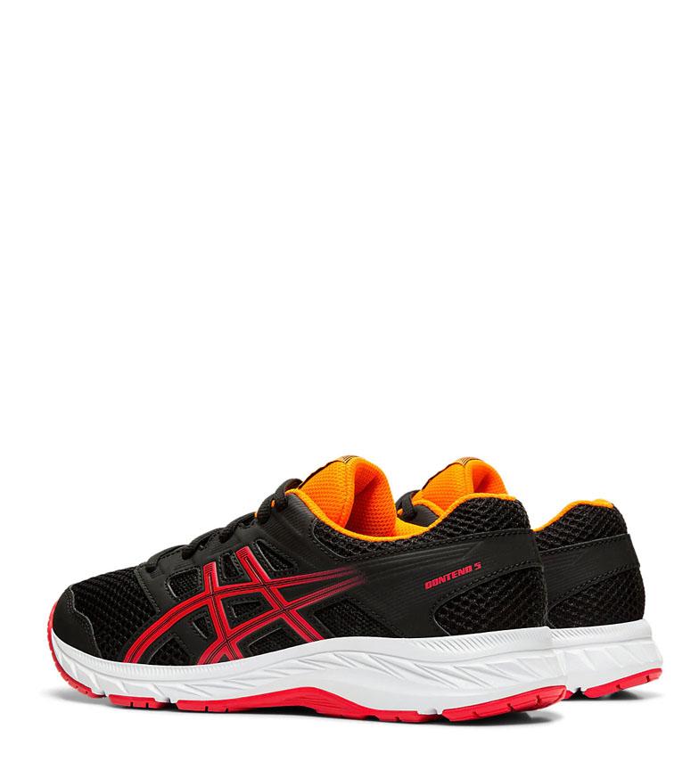 Asics-Chaussures-de-course-Gel-Contend-5-GS-noir-209g-Femme-Gris-Tissu miniature 4