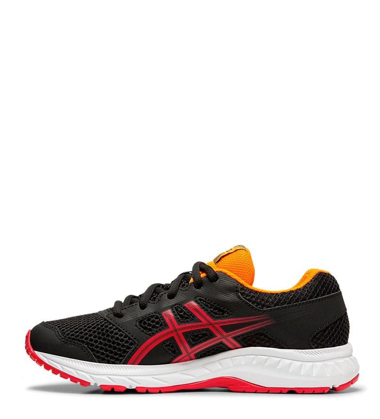 Asics-Chaussures-de-course-Gel-Contend-5-GS-noir-209g-Femme-Gris-Tissu miniature 5