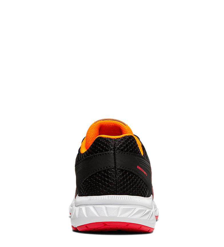 Asics-Chaussures-de-course-Gel-Contend-5-GS-noir-209g-Femme-Gris-Tissu miniature 6