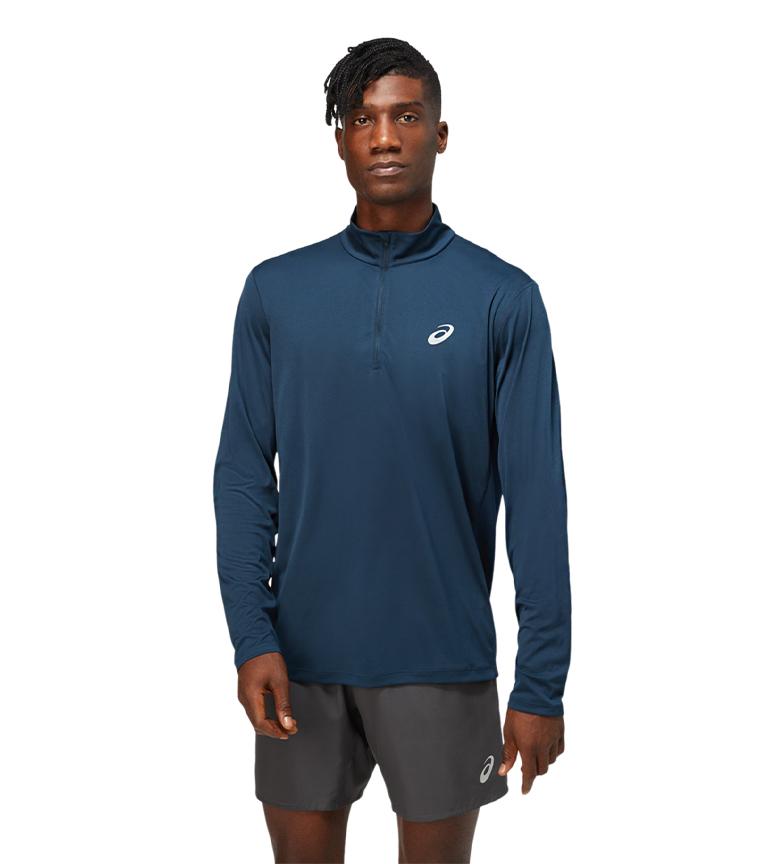 Asics Camiseta com zíper 1/2 azul zíper