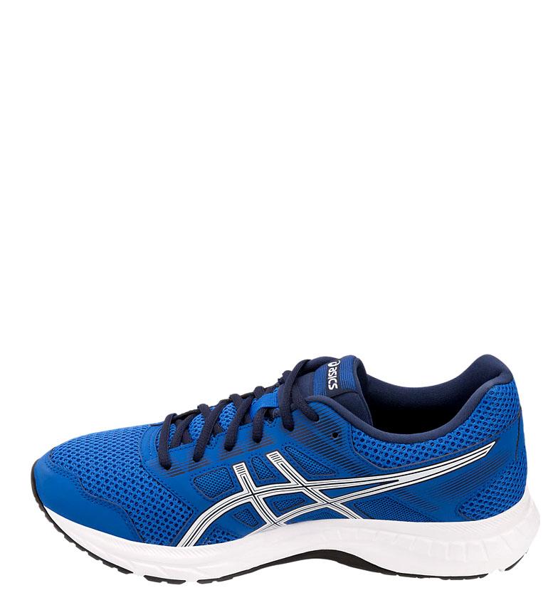 Bleu Homme Asics 300g Course De 5 Contend Chaussures Rouge Gel lTJKc1F