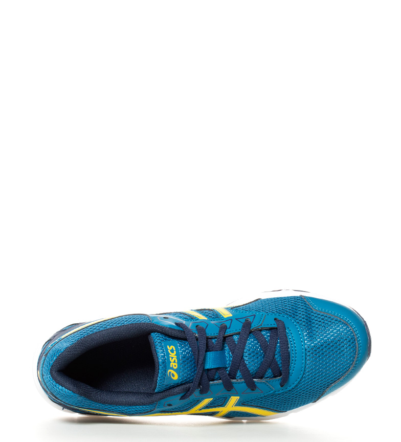 Galaxy running Asics de 9 amarillo Zapatillas azul Gel marino Gs wxrxEI4