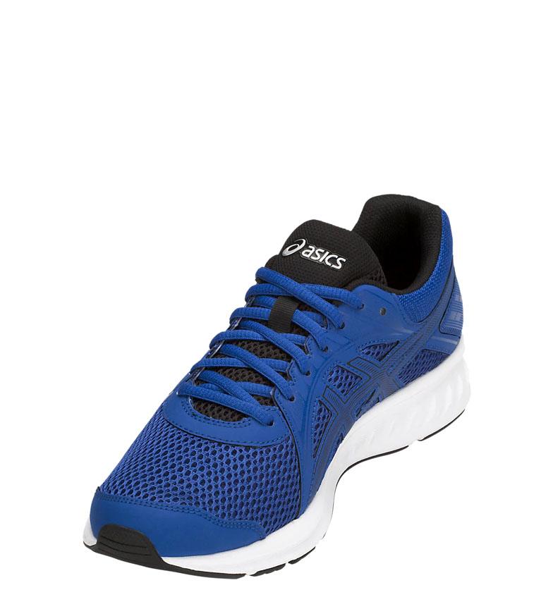 Asics-Zapatillas-de-running-Jolt-2-negro-gris-295g-Hombre-chico-Azul-Rojo miniatura 11