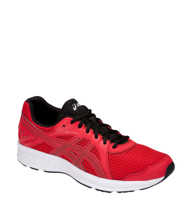 Asics-Zapatillas-de-running-Jolt-2-negro-gris-295g-Hombre-chico-Azul-Rojo miniatura 17
