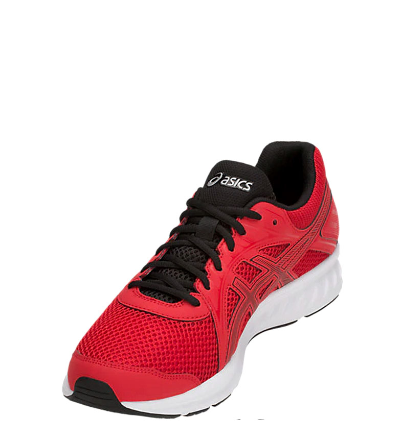 Asics-Zapatillas-de-running-Jolt-2-negro-gris-295g-Hombre-chico-Azul-Rojo miniatura 18