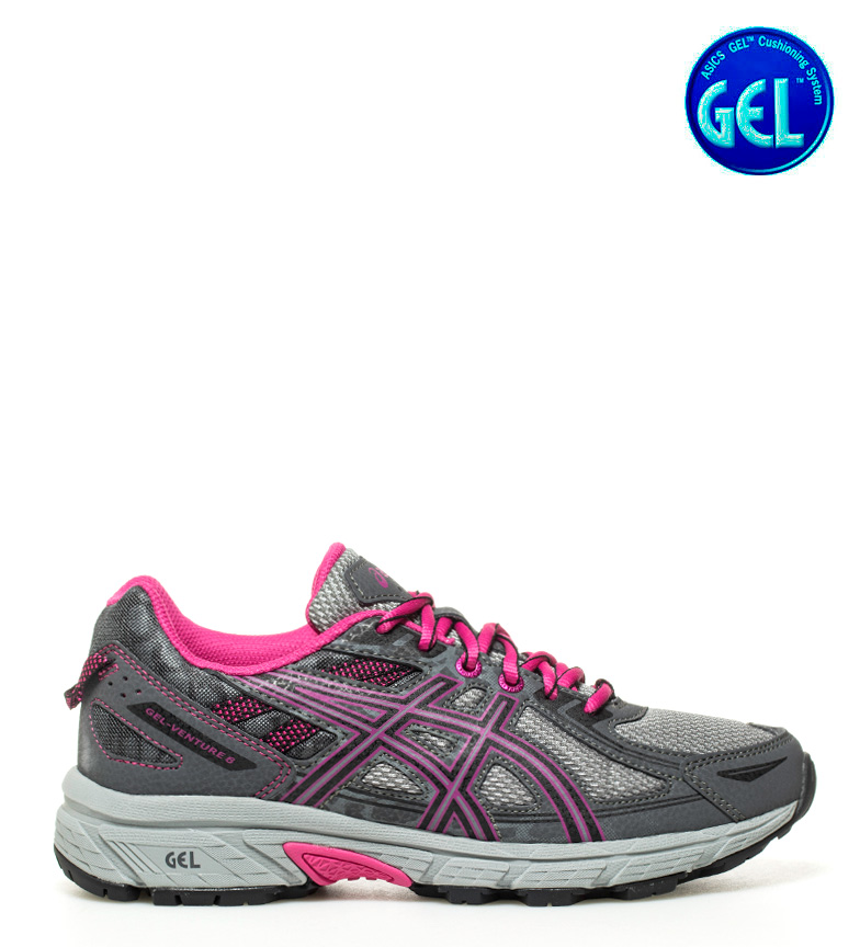 Asics Trail Gel 6 Adventure GS blu arancione Donna