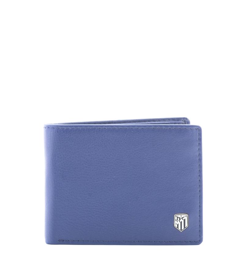 Comprar Atlético de Madrid Carteira de couro ATM azul -8,5x10,5 cm