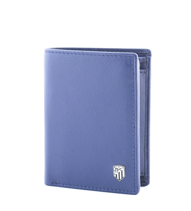 Comprar Atlético de Madrid Portefeuille vertical en cuir ATM bleu -10,5x8 cm