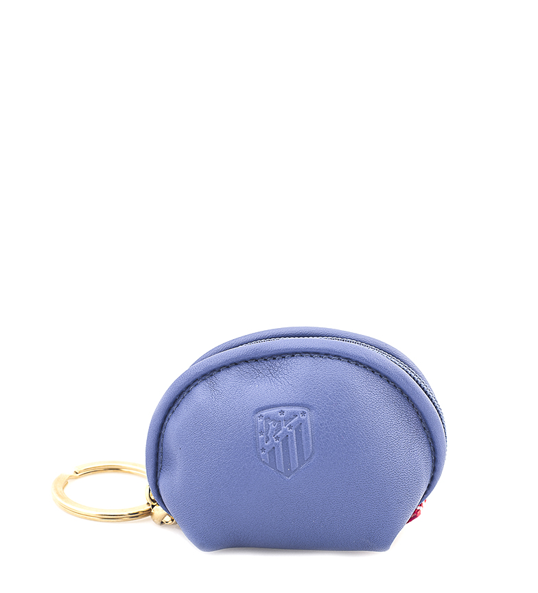Comprar Atlético de Madrid Porta-chaves em couro Carteira ATM azul -6x8 cm