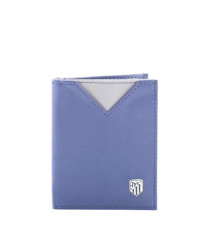 Comprar Atlético de Madrid Tarjetero de piel ATM azul -9x7,5 cm-