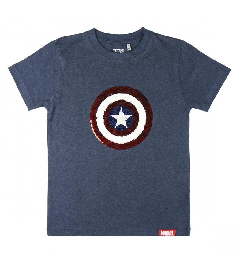 Comprar Marvel Maglietta corta di paillettes marine Avengers