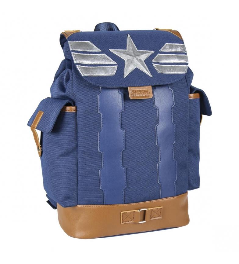 Comprar Marvel Mochila Casual Viaje Avengers Capitan America azul -27.0x42.0x14.0cm-